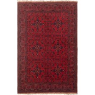 ECARPETGALLERY Finest Khal Mohammadi Red  Rug - 4'2 x 6'4