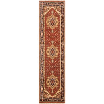 Hand-knotted Serapi Heritage Copper Wool Rug