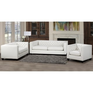 Windsor Top Grain Leather Sofa, Loveseat and Armchair Set