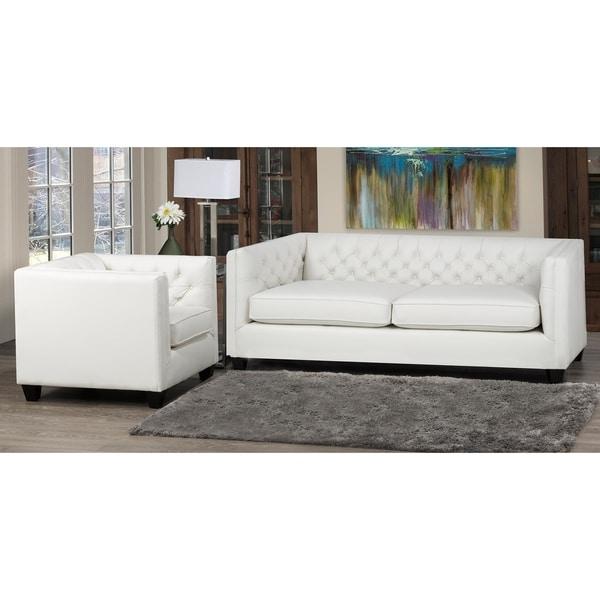 Windsor Top Grain Leather Sofa and Armchair Set