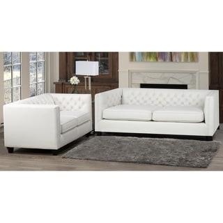 Windsor Top Grain Leather Sofa and Loveseat Set