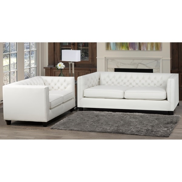 Windsor Top Grain Leather Sofa and Loveseat Set