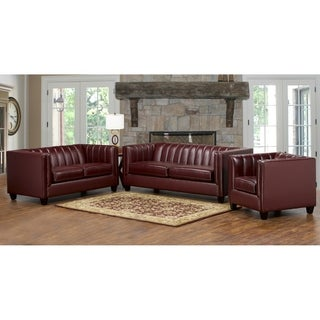 Hastings Top Grain Leather Sofa, Loveseat and Armchair Set