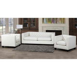 Windsor Top Grain Leather Sofa and Two Chair Set