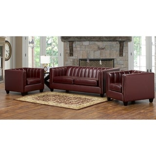 Hastings Top Grain Leather Sofa and Two Chair Set