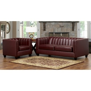 Hastings Top Grain Leather Sofa and Armchair Set