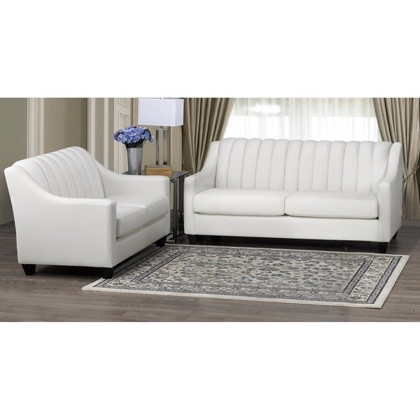 Edgware Top Grain Leather Sofa and Loveseat Set