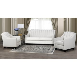 Edgware Top Grain Leather Sofa and Two Chair Set