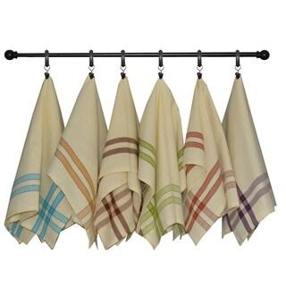 Dunroven House Two Stripe Border Tea Towel Set of 3