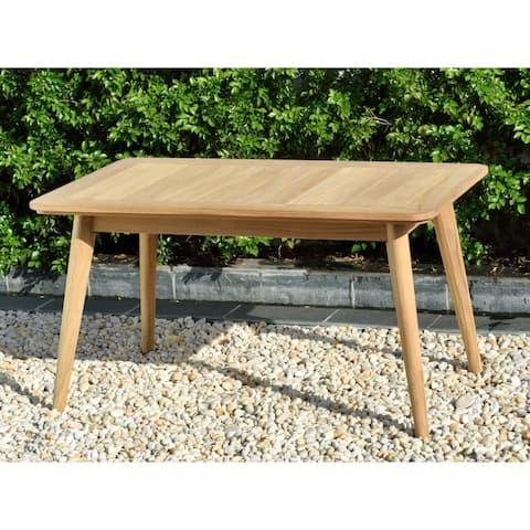 Nordic Patio Teak Wood Rectangular Coffee Table. 100% Teak Wood