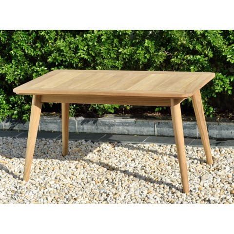 Nordic Patio Teak Wood Rectangular Coffee Table. 100% Teak Wood