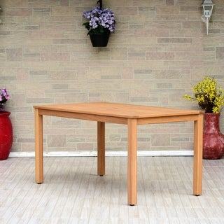 Amazonia Aberdeen Patio Rectangular Table. Made of Eucalyptus with Superior Teak Finish