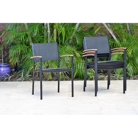 Amazonia Orinocco Stacking Chairs. Durable and Ideal for patio (Set of 4)
