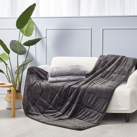 Puredown Velvet Therapeutic Weighted Blanket