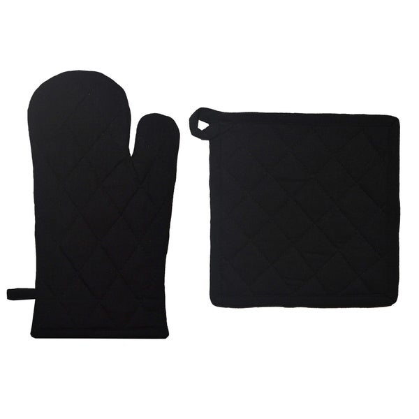 Dunroven House Quilted Oven Mitt and Potholder Set. Opens flyout.