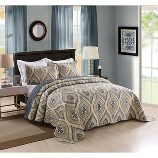 Link to MarCielo 3 Piece Queen Quilted Bedspread Printed Quilt Set Bedding Throw Blanket Coverlet Oversize Lightweight B... (As Is Item) Similar Items in As Is