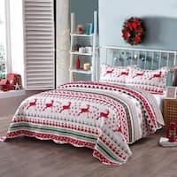 Porch & Den Dutch Christmas Pattern Quilt Set