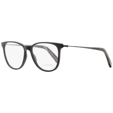 Tom Ford TF5384 002 Unisex Matte Black/Horn 53 mm Eyeglasses - Matte Black/Horn