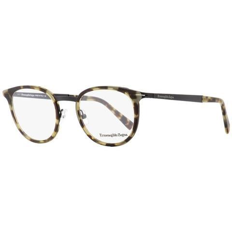 Ermenegildo Zegna EZ5048 055 Mens Vintage Havana/Black 49 mm Eyeglasses - Vintage Havana/Black