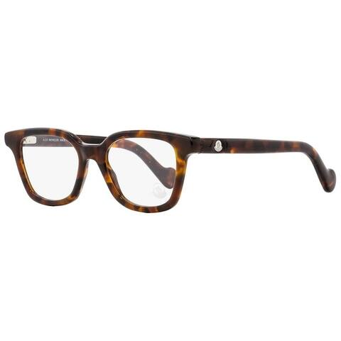 Moncler ML5001 052 Mens Dark Havana 49 mm Eyeglasses - Dark Havana
