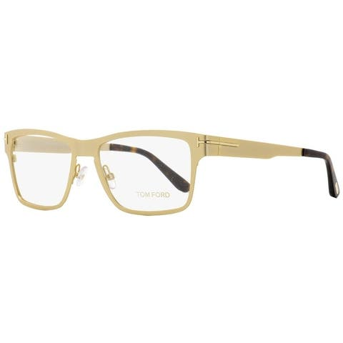 Tom Ford TF5475 32E Mens Satin Gold/Havana 54 mm Eyeglasses - Satin Gold/Havana