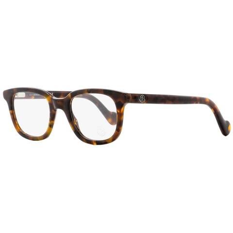 Moncler ML5003 052 Mens Dark Havana 50 mm Eyeglasses - Dark Havana