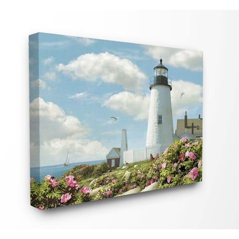 Porch & Den 'Pemaquid Lighthouse' Canvas Wall Art - Multi-Color