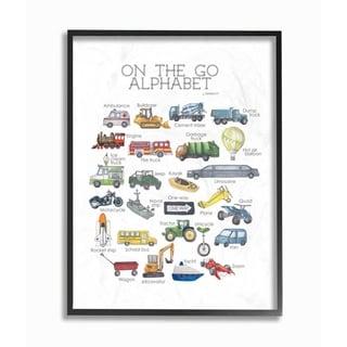 Porch & Den 'On The Go Transportation Alphabet' Framed Art