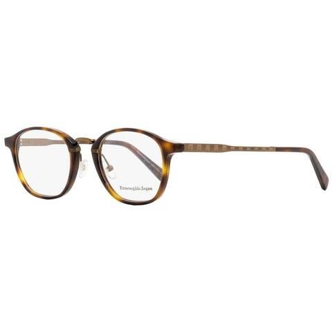 Ermenegildo Zegna EZ5101 052 Mens Dark Havana/Bronze 50 mm Eyeglasses - Dark Havana/Bronze