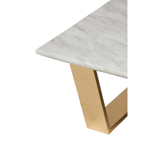 Milan Marble Coffee Table In Polished Gold Free