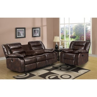 Link to Trista Reclining 2 Piece Sofa/ Chair Living Room Set Similar Items in Glider Sets