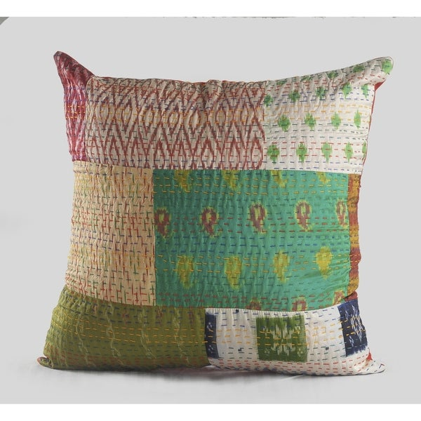 Carson Carrington Hjo Abstract Patchwork Pillow