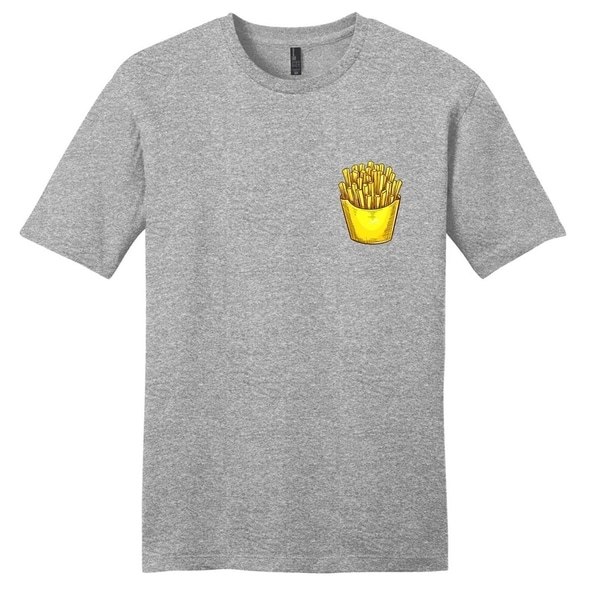 French Fries Pocket Print T-Shirt - Unisex Fit Food Shirt