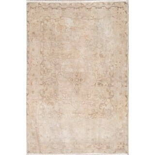"Persian Traditional Wool Hand-Knotted Muted Vintage Oriental Area Rug - 4'9"" x 3'2"""