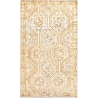 """One-of-a-Kind Lori Persian Wool Hand-Knotted Vintage Oriental Area Rug - 6'7"""" x 3'11"""""""