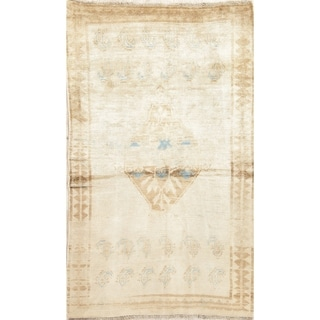 """Antique Qashqai Persian Oriental Wool Muted Hand-Knotted Area Rug - 6'6"""" x 3'10"""""""
