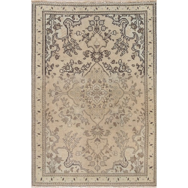 """One-of-a-Kind Persian Wool Hand-Knotted Muted Oriental Area Rug - 4'6"""" x 3'1"""""""