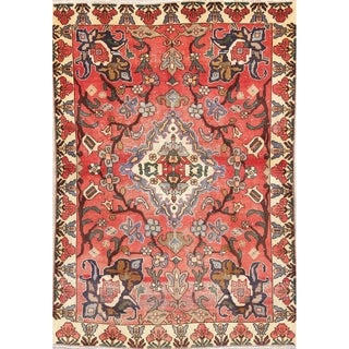 """Persian Bakhtiari Wool Hand-Knotted Floral Oriental Area Rug - 6'5"""" x 4'5"""""""