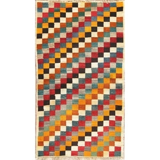 """Gabbeh Persian Tradtional Wool Hand-Knotted Oriental Area Rug - 6'0"""" x 3'6"""""""