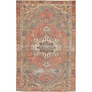 """Antique Bakhtiari Persian Wool Hand-Knotted Oriental Area Rug - 6'8"""" x 4'3"""""""