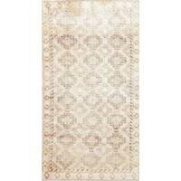 "Antique Persian Hamedan Wool Hand-Knotted Oriental Runner Rug - 6'6"" x 3'5"" Runner"