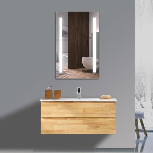 Mini Maxx LED Wall Mirror - Silver