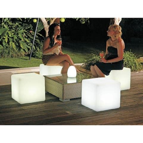 20 in LED Multi-Color Cube Lamp