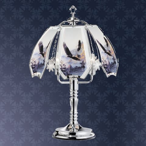 23.5 in Flying Eagle Silver Touch-On Lamp