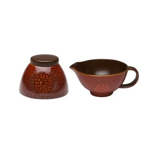 Red Vanilla Natural Brown Cream and Sugar Set