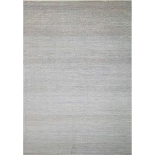Noori Rug Fine Oushak Mahzun Grey/Silver Rug - 10'2 x 14'4