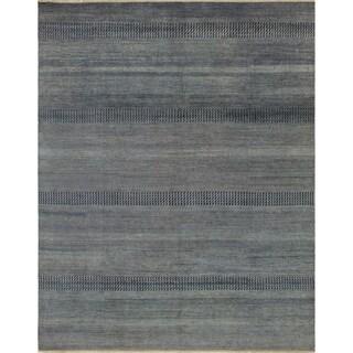 Noori Rug Fine Grass Agharr Grey/Ivory Rug - 8' x 10'