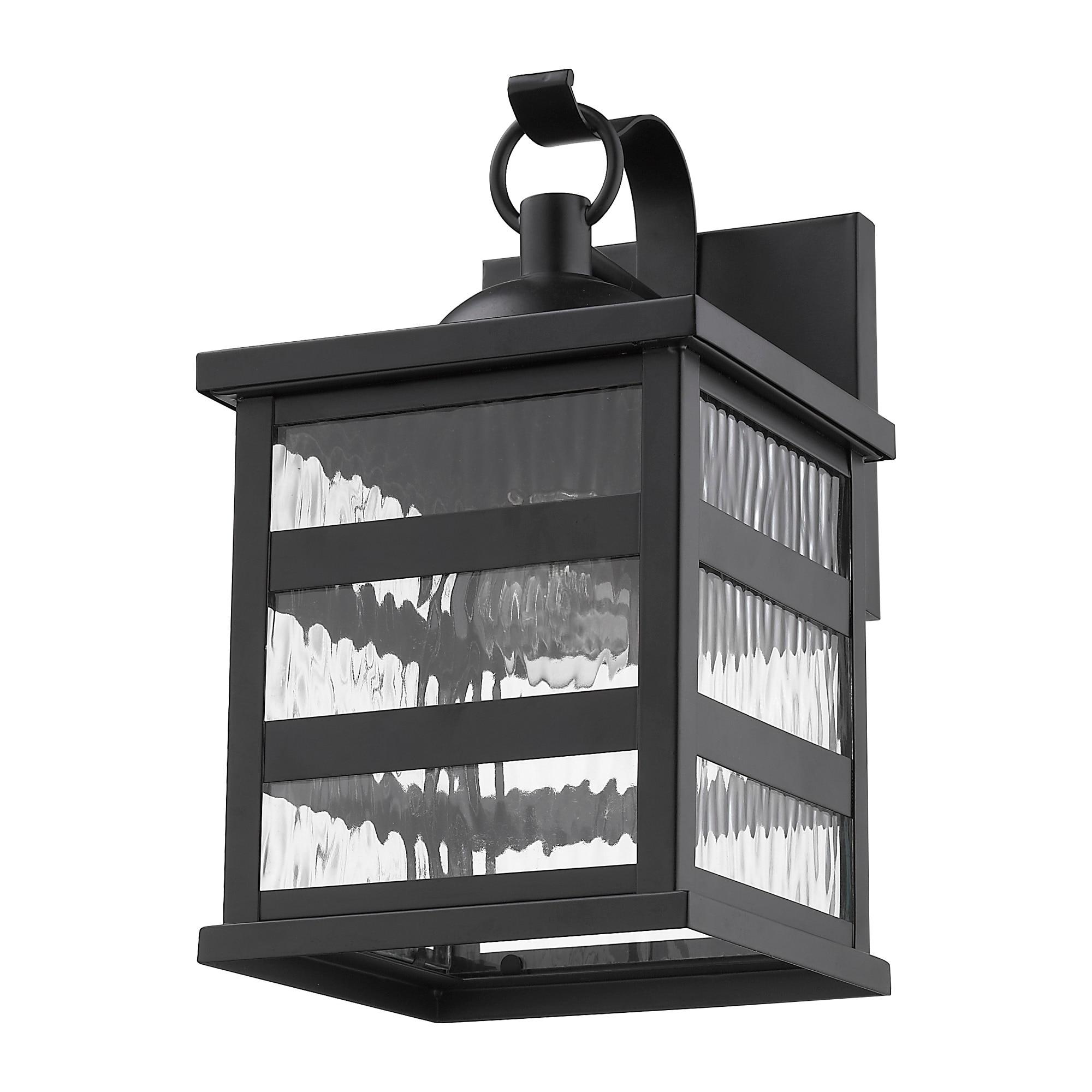 Morris 1-light Matte Black Exterior Wall Fixture