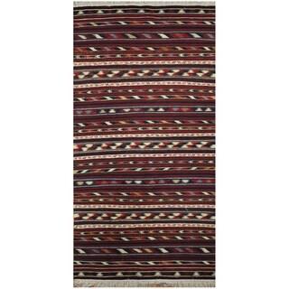 Handmade One-of-a-Kind Wool Kilim (Afghanistan) - 3'5 x 6'2