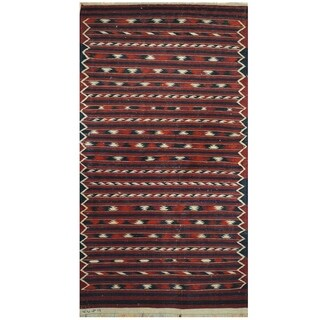 Handmade One-of-a-Kind Wool Kilim (Afghanistan) - 3'4 x 6'5